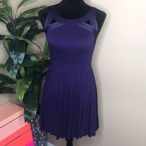 Silence + Noise Open Back Purple Dress